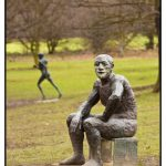 Photograph of Sitting Man 2, Elisabeth Frink by wedding and portrait photographer John Charlton