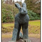 Photograph of Lady Hare, by Sophie Ryder - taken by wedding and portrait photographer John Charlton
