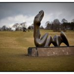 Henry Moore Sculpture at West Yorkshire Sculpture Park by portrait and wedding photographer John Charlton