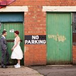 Bride and groom at Fazeley Studios wedding