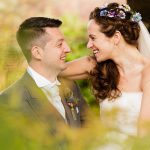 Wedding at Curradine Barns - bride and groom wedding photograph