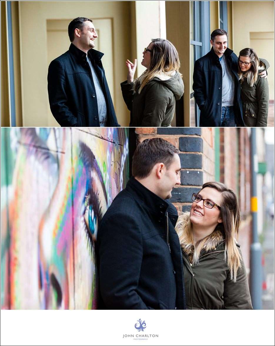 Edd and Lizzi's Digbeth Engagement shoot by wedding photographer John Charlton (4)
