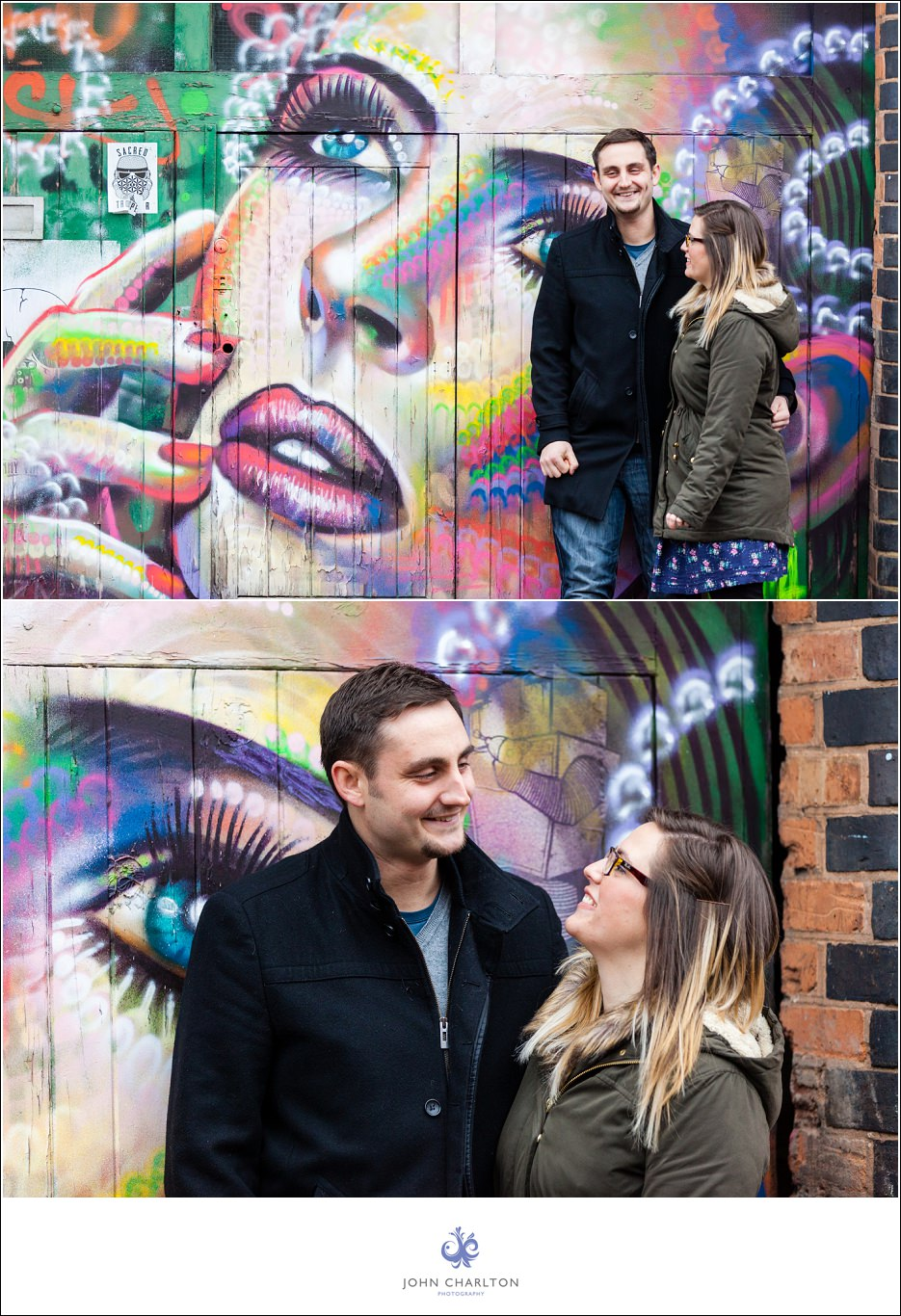 Edd and Lizzi's Digbeth Engagement shoot by wedding photographer John Charlton (3)