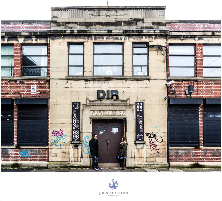 Edd and Lizzi's Digbeth Engagement shoot by wedding photographer John Charlton (2)