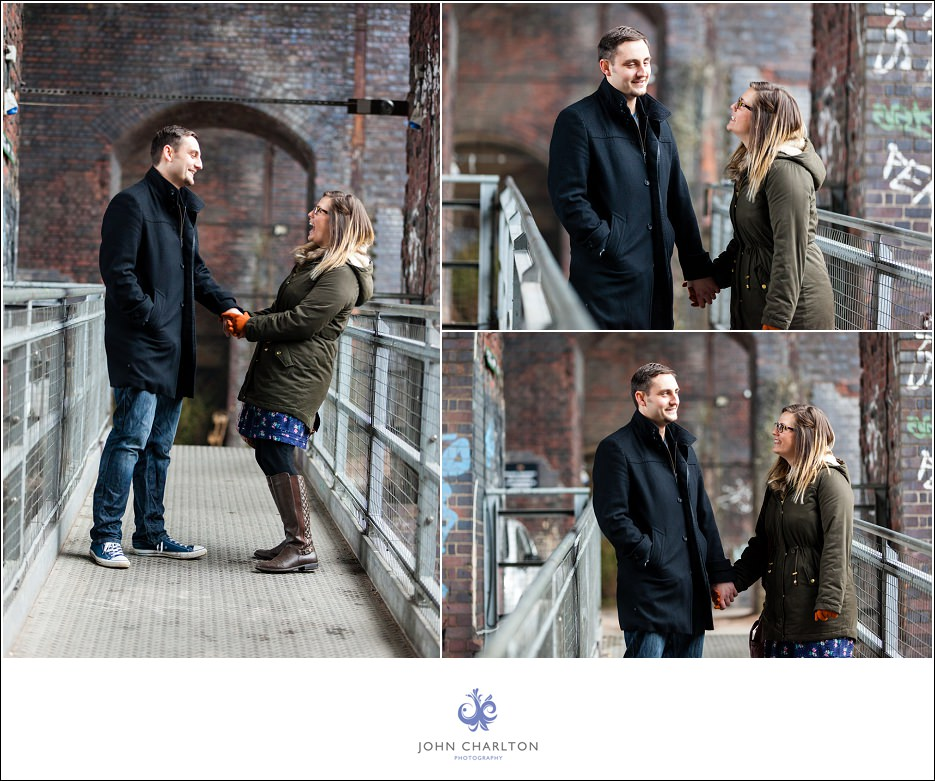 Edd and Lizzi's Digbeth Engagement shoot by wedding photographer John Charlton (1)
