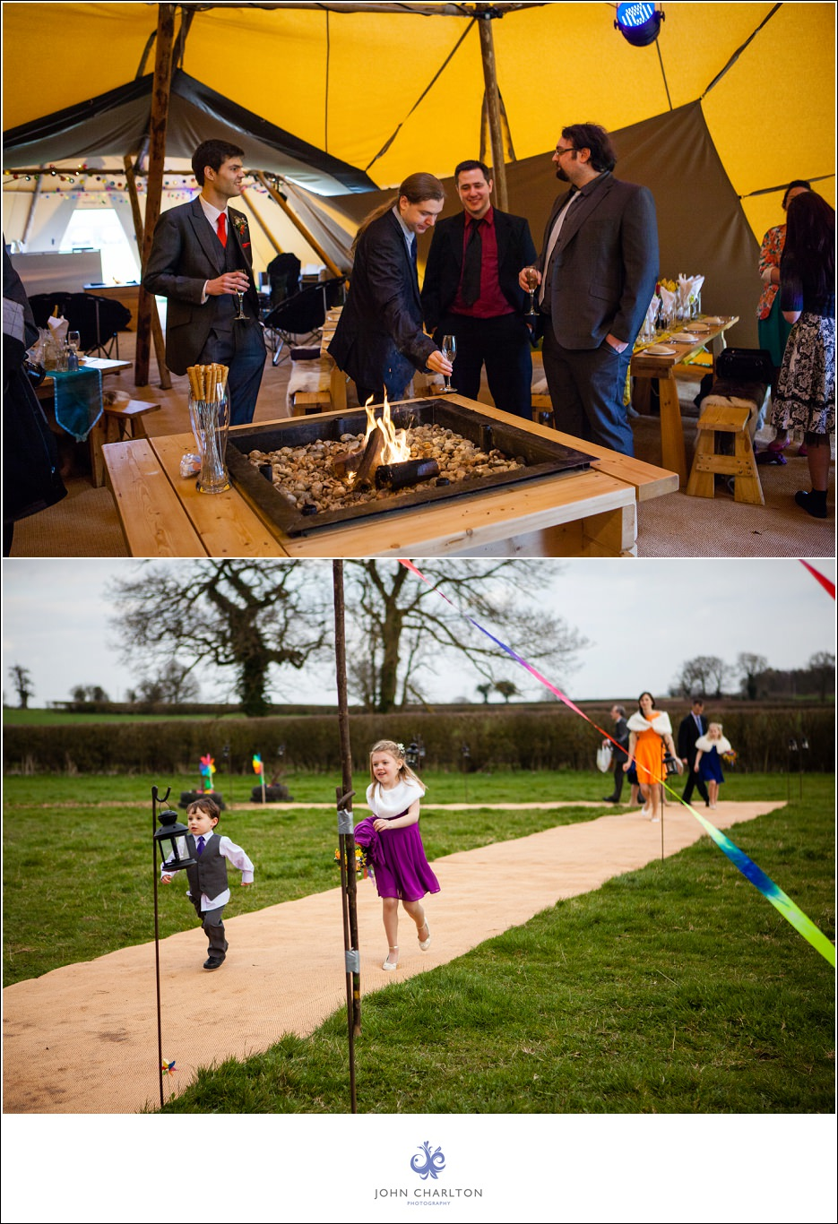 Bromsgrove Tipi Wedding - photographed by wedding photographer John Charlton (6)