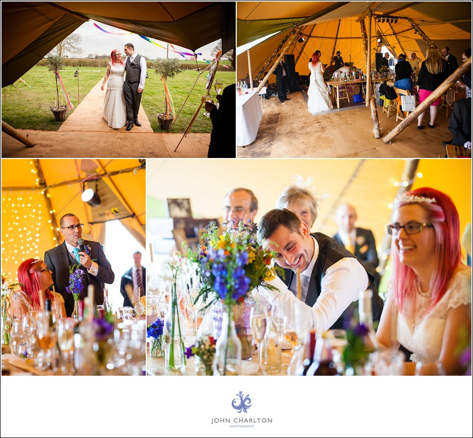 Bromsgrove Tipi Wedding - photographed by wedding photographer John Charlton (5)