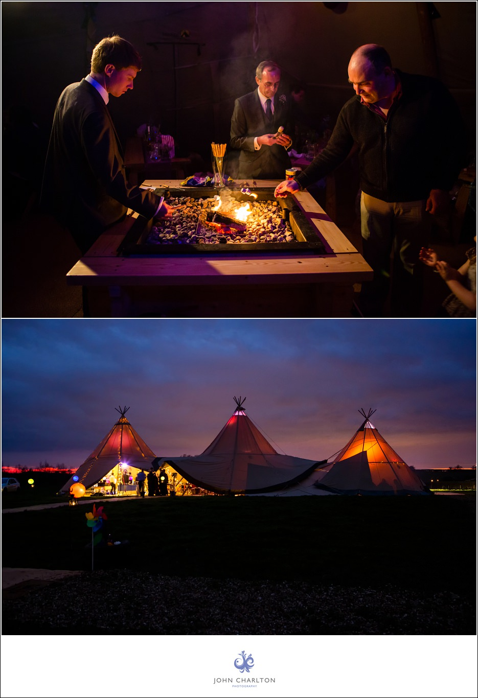Bromsgrove Tipi Wedding - photographed by wedding photographer John Charlton (1)