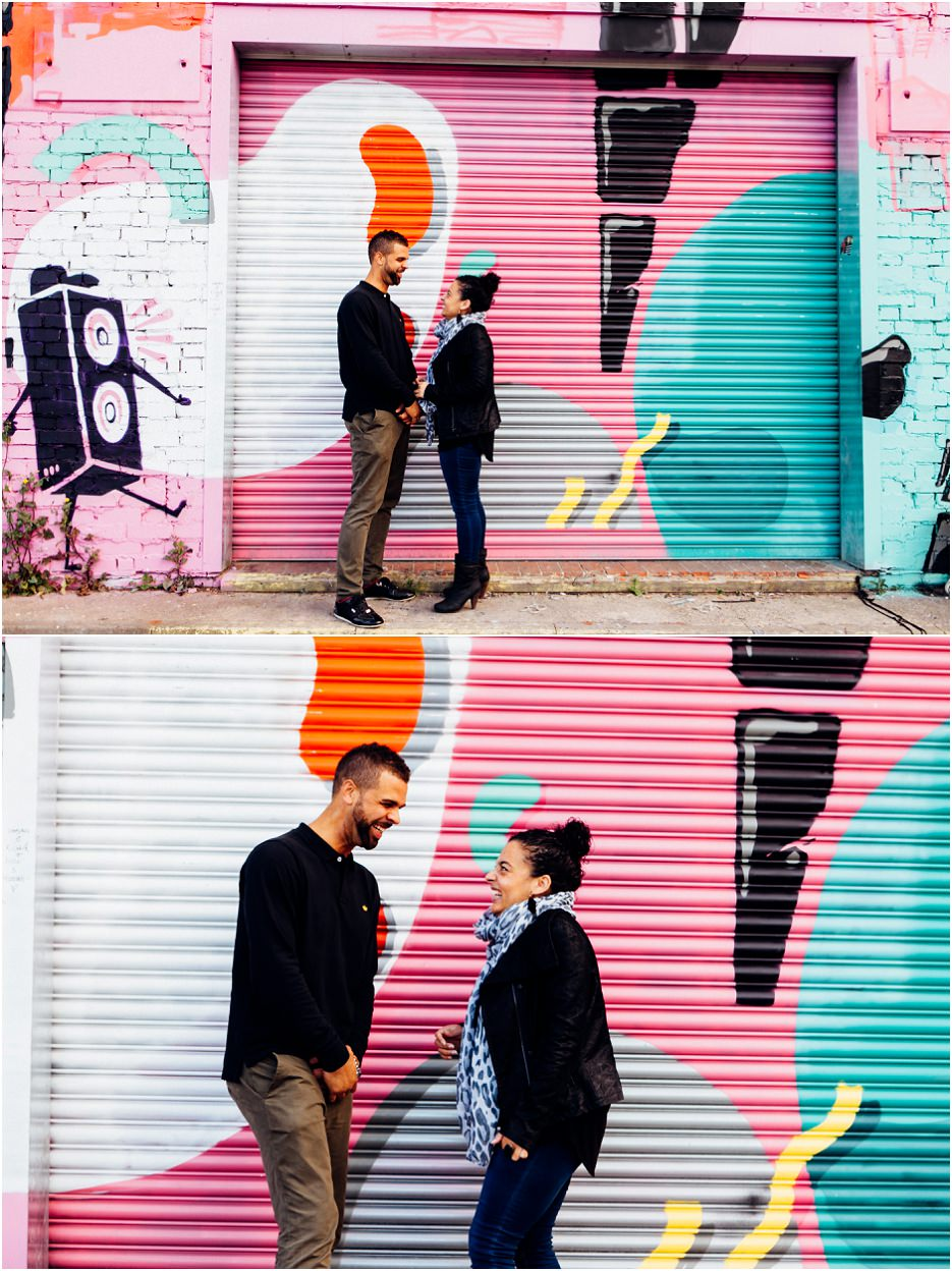 Fazeley Studios competition winners Michelle and Ross's engagement shoot in Digbeth (3)