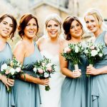 Moreton-in-the-Marsh wedding photograph of bride and bridesmaids