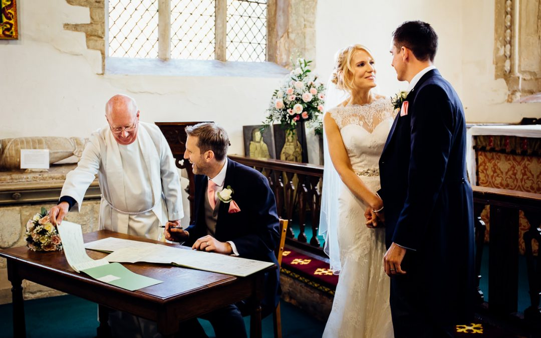 Is it the end for the signing of the wedding register?